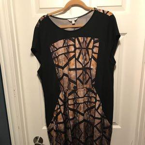 Plus size work shift dress